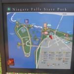 Карта парка Ниагарского водопада