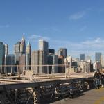Вид на Манхэттен с Бруклинского моста